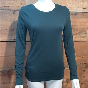 A New Day Womans Green Long Sleeve Top SZ.M